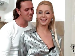 Skirt and shiny blouse girl sucks a dick tubes
