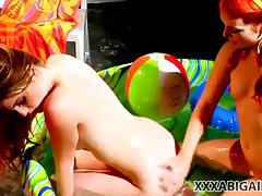 Sexy redheaded pornstar girls fool around tubes