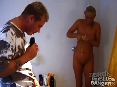 Blonde sucks cock and fucks by the highway tubes