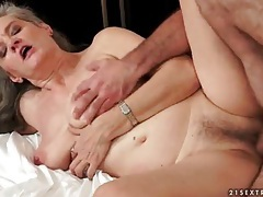Granny with curves fucked in her tight pussy tubes
