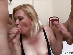 Mature blonde takes two facial cumshots from guys tubes
