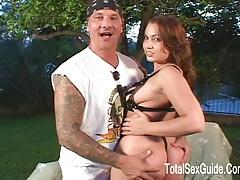 Hot pornstar sucked cock deep in her throat tubes