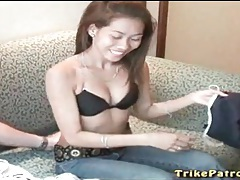 Filipina strips naked and takes a shower tubes