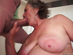 Curvy mature sucks dick and bends over tubes