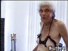 She is 80 years old and taking young cock tubes