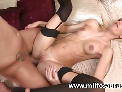 Hot blonde milf fucks her student tubes