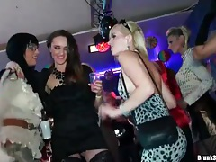 Girls grinding on guys at the night club tubes