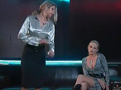 Sexy clothes on two chicks in a catfight tubes