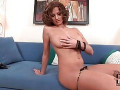 Curvy euro chick models her big sexy tits tubes