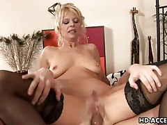 Black stockings are sexy on mature blonde he fucks tubes