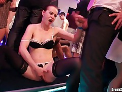 Horny sluts bend over and fuck at a party tubes