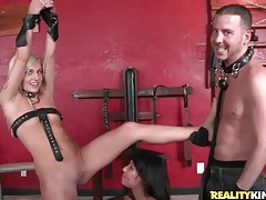Pussy eating and cocksucking in kink dungeon tubes