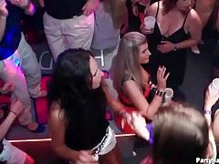 Girl gives condom blowjob at wild party tubes