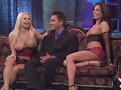 Big titty girls host a show for playboy tv tubes