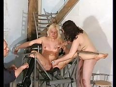 Lesbian dildo play in a bdsm video clip tubes