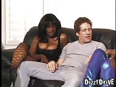 Hot black girls and white guy get frisky tubes