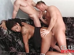 Hot hard anal fills this threesome video tubes