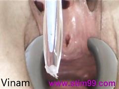 Fucking peehole with toothbrush tubes
