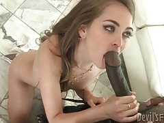 Riley reid sucks huge black cock in sneakers tubes
