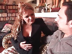 Milf is sexy in stockings and wants to suck cock tubes