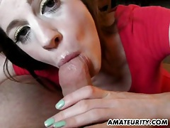 Amazing amateur girlfriend sucks cock with facial tubes