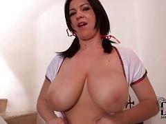 Curvy schoolgirl gropes tits and masturbates tubes