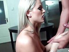 Blowjob from girl in red lipstick is sexy tubes