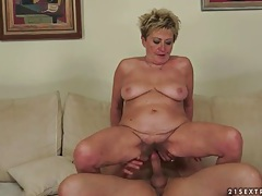 Making love to mature woman with his cock tubes