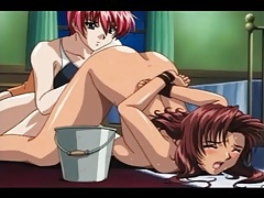 Two submissive hentai sluts in kinky play video tubes