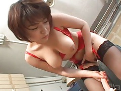 Sexy lingerie on toy riding japanese girl tubes