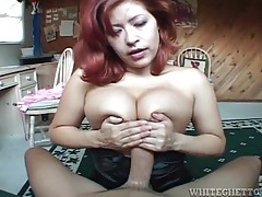 Big cock fucks her titties and tight wet pussy tubes
