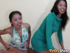 Two asian prostitutes in pussy eating video tubes
