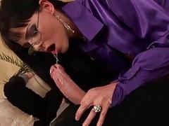 Satin blouse cocksucker has anal hardcore sex tubes