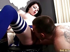 Eating out cheerleader and fucking that pussy tubes
