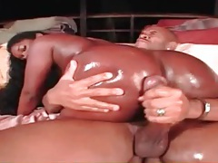 Black girl is lubed up for doggystyle fuck tubes