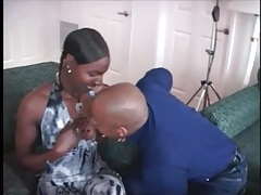Black as night babe gives a sexy blowjob tubes