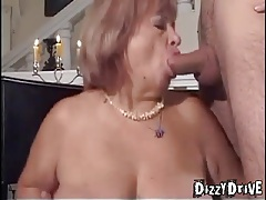 Fat old bitch in stockings loves threesome sex tubes