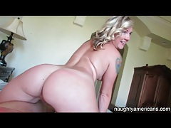 Hot pov with a tattooed blonde beauty tubes