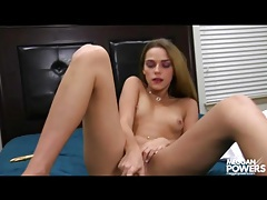 Dirty girl has dildo sex and buzzes her twat tubes