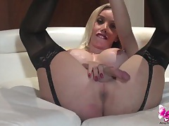 Ana mancini in black stockings tubes