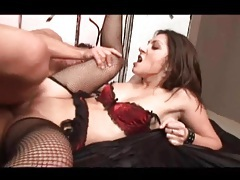Bald cunt asian in sexy lingerie fucked hard tubes