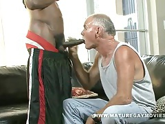 Old guy gets fucked by massive black cock tubes