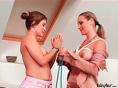 Big tit bondagae with two beautiful women tubes