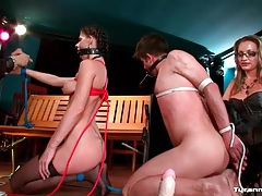 Couple tied up and toyed with by dom couple tube
