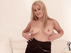 Chubby blonde with bald pussy and tattoos tubes