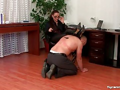Humiliation and back flogging of submissive man tubes