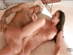 Hammered in her wet white pussy by dark dick tubes