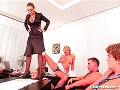 Cock trampling mistress has many men to abuse tubes