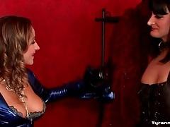 Latex mistress dominates the sissy guy tubes