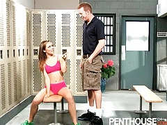 Slender kristina rose fucked in the locker room tubes